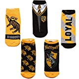 Harry Potter House & Uniform 5-packs Adult No-show Socks (Hufflepuff)