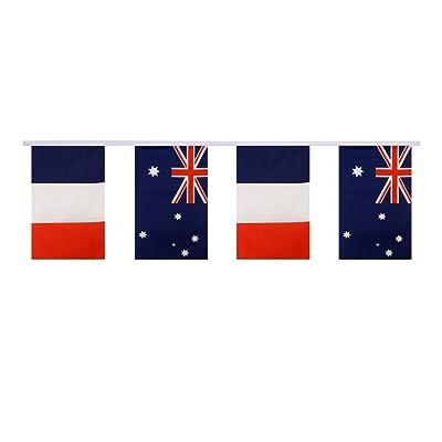 Digni Guirlande d'amitié 16 drapeaux alternés France - Australie - 5,9 sticker gratuit