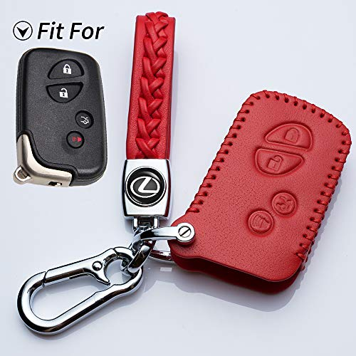 Hey Kaulor Black Key Fob Cover Case Jacket Keyless Clicker Remote Smart Key Holder Chain Keychain for Lexus GS430 GS300 IS350 IS250