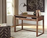 Baybroon Rustic Brown Wood Home Office Small Desk