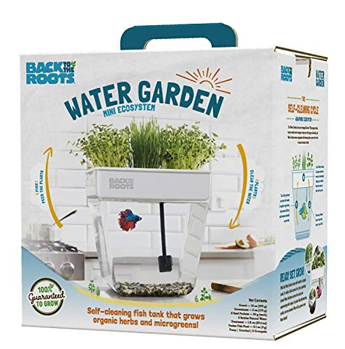 Water Garden, Self-Cleaning Fish Tank That Grows Food, Mini Aquaponic Ecosystem (Great Gardening Gift & Family Project)