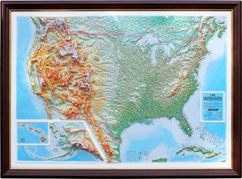 Test Play United States Map With Panorama Effect - Map With Backing by TestPlay