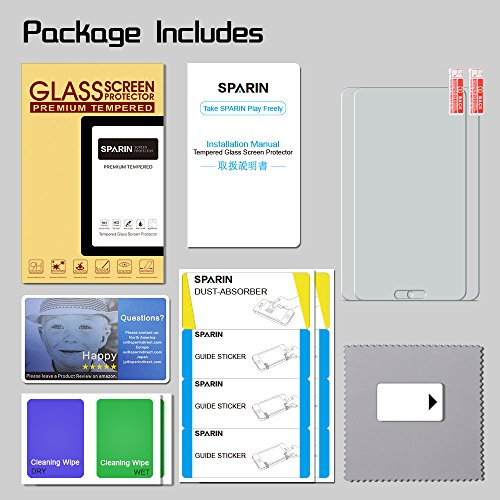 [2 Pack] Galaxy Tab E 8 0 Screen Protector, SPARIN [Tempered Glass]  [Bubble-Free] Screen Protector for Samsung Galaxy Tab E 8 0 Inch Tablet  (2017/2016