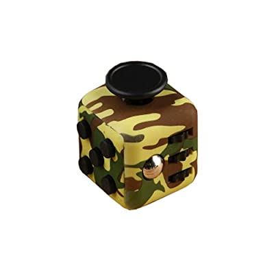 HELLOLAND Fidget Cube Toy Relieves Stress and Anxiety Toy (Camo-Green): Toys & Games