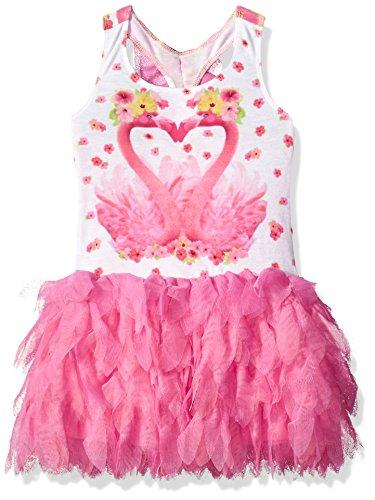 Girls Paradise Island - Kate Mack Toddler Girls' Paradise Island Flamingo Dress, Multi, 2T