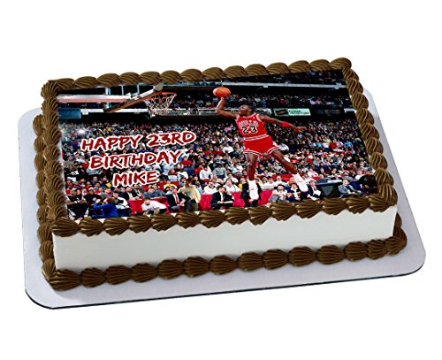 Michael Jordan Chicago Bulls Quarter Sheet Edible Photo
