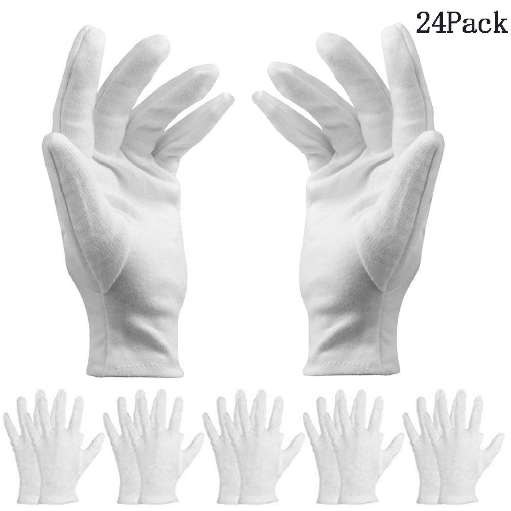 Guantes de nylon, BESTZY 12 pares guantes de trabajo Negro suave recubrimiento de PU Guantes de trabajo de montaje de jardí n de almacé nde Talla (M/8)