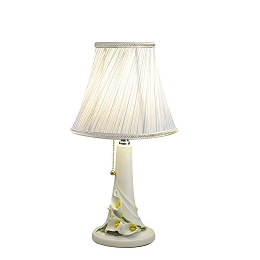 Amazon.com: Lámpara de mesa LED moderna resina pequeña ...