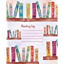 Reading Log : Gift For Book Lovers - Book Read Journal -Water Color Book Cover 8x10 (110 Pages) - For Record Your Reading Book (Vol.2): Reading Log (Volume 2)