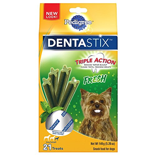 Pedigree Dentastix Fresh Toy/Small Treats For Dogs, 5.26 Ounces, 21 Count