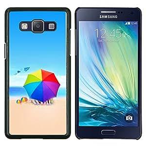KLONGSHOP // Cubierta de piel con cierre a presión Shell trasero duro de goma Protección Caso - Colores Beach - Samsung Galaxy A5 A5000 //