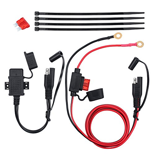 ESYNIC Waterproof Motorcycle 12V SAE to USB Interface Phone GPS Charger Cable Adapter Kit Inline Fuse