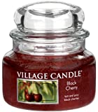 Village Candle Black Cherry 11 oz Glass Jar Scented Candle, Small