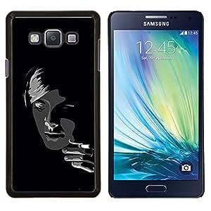 For Samsung Galaxy A7 A7000 Case , Negro y blanco de la muchacha de fumadores- Diseño Patrón Teléfono Caso Cubierta Case Bumper Duro Protección Case Cover Funda