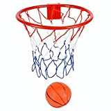 8-Inch Over The Door Basketball Hoop With mini Ball Set Or On The Wall – Fun Sports Game - Great for Kids, Teens And Adults - By Katzco