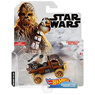 Hot Wheels Chewbacca with PORG Vehicle