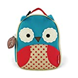 "Skip Hop Zoo Kids Insulated Lunch Box, Otis Owl, 9""x3.25""x7.5"", Blue"