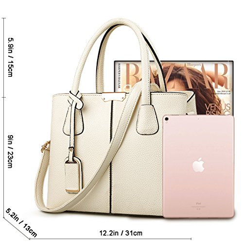 Satchel White Bag Handle Top beige Messenger Tote Shoulder Women Cocifer Bags Purse Handbags ZTqRwtwP