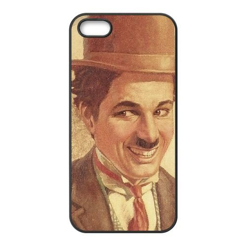 Charlie Chaplin Vintage 006 coque iPhone 5 5S cellulaire cas coque de téléphone cas téléphone cellulaire noir couvercle EOKXLLNCD22763