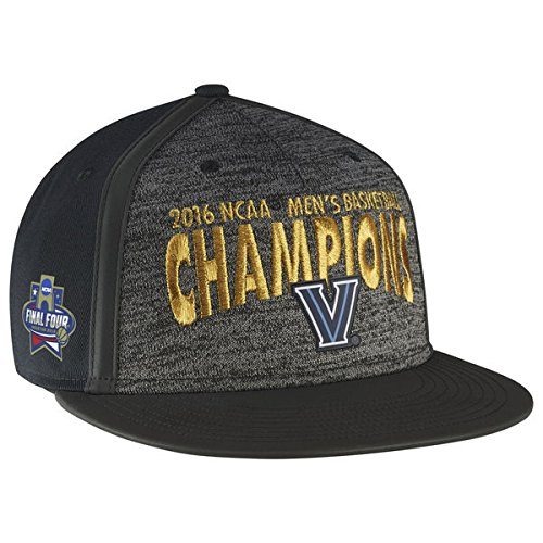 NIKE Villanova Wildcats 2016 NCAA Men's Basketball National Champions Player Locker Room Snapback Adjustable Hat - Gray/Black