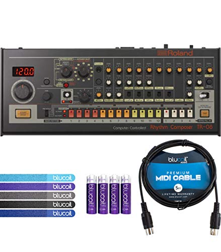 - Roland TR-08 Rhythm Composer Sound Module Bundle with Blucoil 5-Ft MIDI Cable, 5-Pack of Reusable Cable Ties and 4-Pack of AA Batteries
