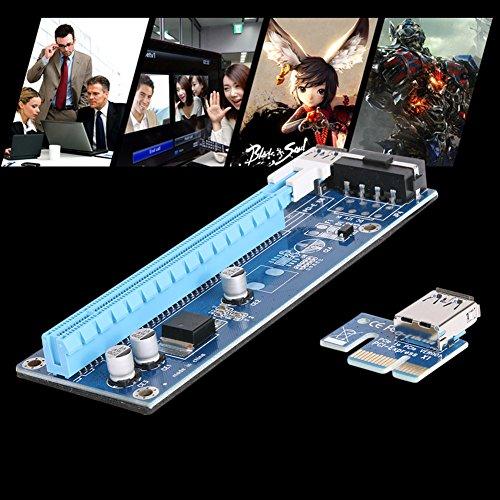 Mining SATA Cable, Awakingdemi PCI-E 1X to 16X Extender Riser Card 4Pin USB3.0 Cable for Mining,20pcs by Awakingdemi (Image #3)