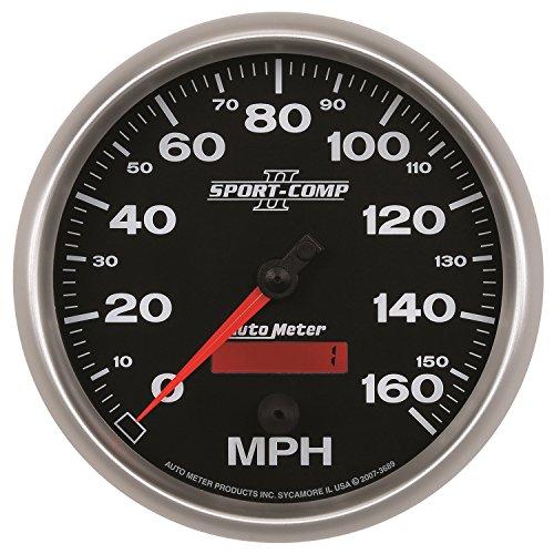 auto meter 3689 sport comp ii 5 160 mph in dash. Black Bedroom Furniture Sets. Home Design Ideas