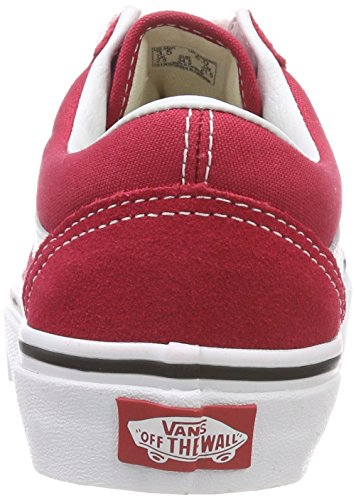 Old Skool Running Rouge true Mixte Adulte White De Q9u crimson Vans Chaussures T76Oxqw6