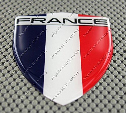 France Drapeau 3d Autocollant Grande 3D Lettering
