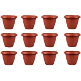 "Dhavesai Flower Pots - Garden Planters In Terracotta Color ( 12"" Inch Pack Of 12) - Srisai Naturals"