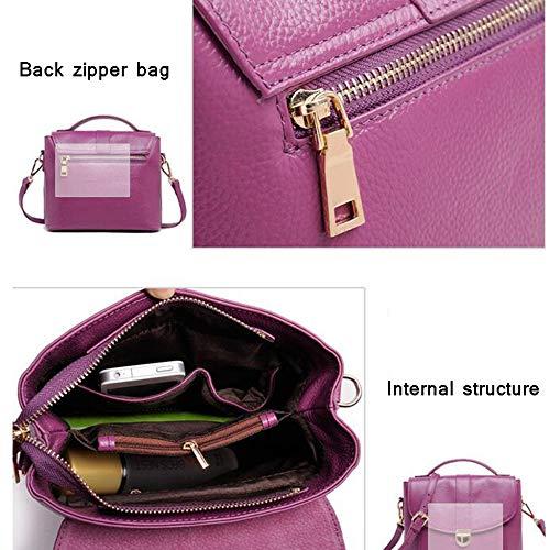 Grand Main à Femme De à Pour Cuir Serrure Sac Décontractéà En Sacs Purple Mode à Poignée Sacs Bandoulière Supérieure H5wXYqv8