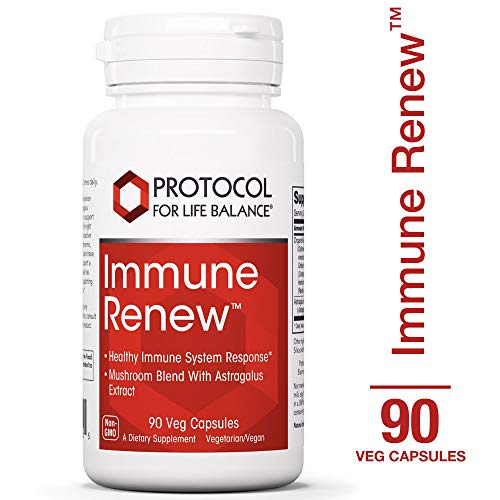 (Protocol For Life Balance - Immune RenewTM - Supports Healthy Immune System with Super Mushroom Blend and Astragalus Extract for Maximum Benefit - 90 Veg Capsules)