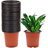 "Erlvery DaMain 4"" Plastic Flower Plants Seedlings Nursery Pot/pots Containers,50 Pack"