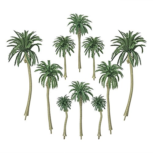(PROPARTY 20 PCS Artificial Coconut Palm Trees Cake Cupcake Toppers Model for Diorama Scenery Party Decorations 5 Sizes )