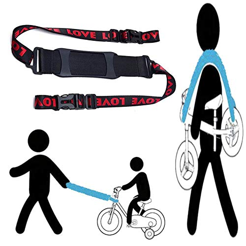 AISHEMI Long 1.5M Shoulder Carrying Strap for Kids Balance Bike,Scooter, to Lead The Kid's Bike As Trailer, Carry On Shoulder, or On Stroller Handle Bar