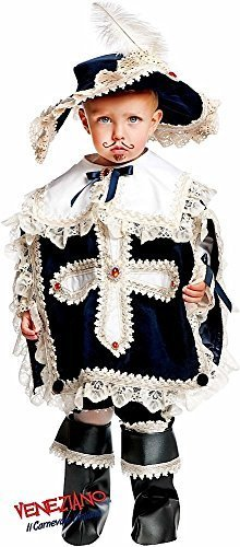 - Italian Made Prestige Deluxe Baby & Older Boys Musketeer Historical Carnival Halloween Fancy Dress Costume Outfit 0-12 Years (3 Years)