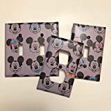 Disney Mickey various faces, light plate cover,light switch plate, outlet cover, outlet plate, home decor