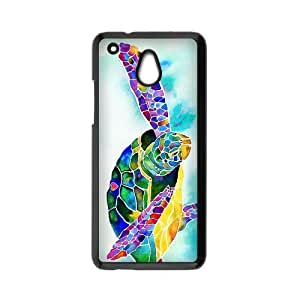 New products,Underwater World,Cute Sea Turtle picture for black plastic HTC One Mini case