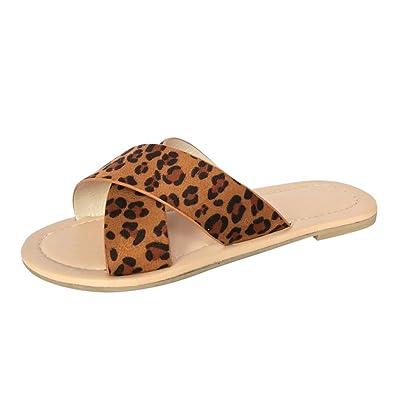 13d981c35 Amazon.com | BSGSH Women's Criss Cross Slide Sandal - Ladies Strappy Flats  Summer Slip On Shoes | Slides