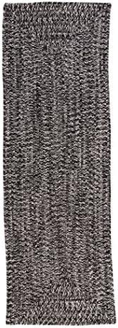 Catalina Polypropylene Braided Rug, 2-Feet by 6-Feet, Blacktop
