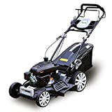 Kalala Lawn Mower Gasoline Push Mower Recoil and Starter 161cc 21 inch 3-in-1 Side Discharge Mulching Rear Bag Black Gas Self-Propelled with OHV Engine 10-inch High Wheels Drive (20INCH)