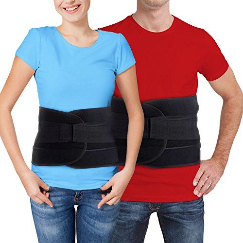Back Brace for Lower Back Pain – Comfortable Lumbar Support Belt for Weight Lifting and Low Spine Stabilizer for Sciatica Nerve Relief or Scoliosis. Compression for Bulging or Herniated Disc (LARGE) - Lumbar Sacral Brace
