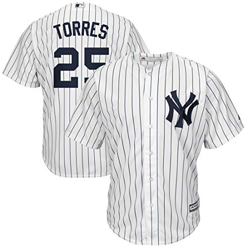 Outerstuff Youth Kids New York Yankees 25 Gleyber Torres Baseball Player Jersey White Size 14-16 L ()