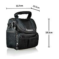 LXJ SMILEBlack Soft Nylon Digital Camera Case Bag Cover Pouch for Canon Powershot SX530 SX60 SX520 SX510 HS SX400 IS EOS Rebel Series DSLR kit by LXJ SMILE