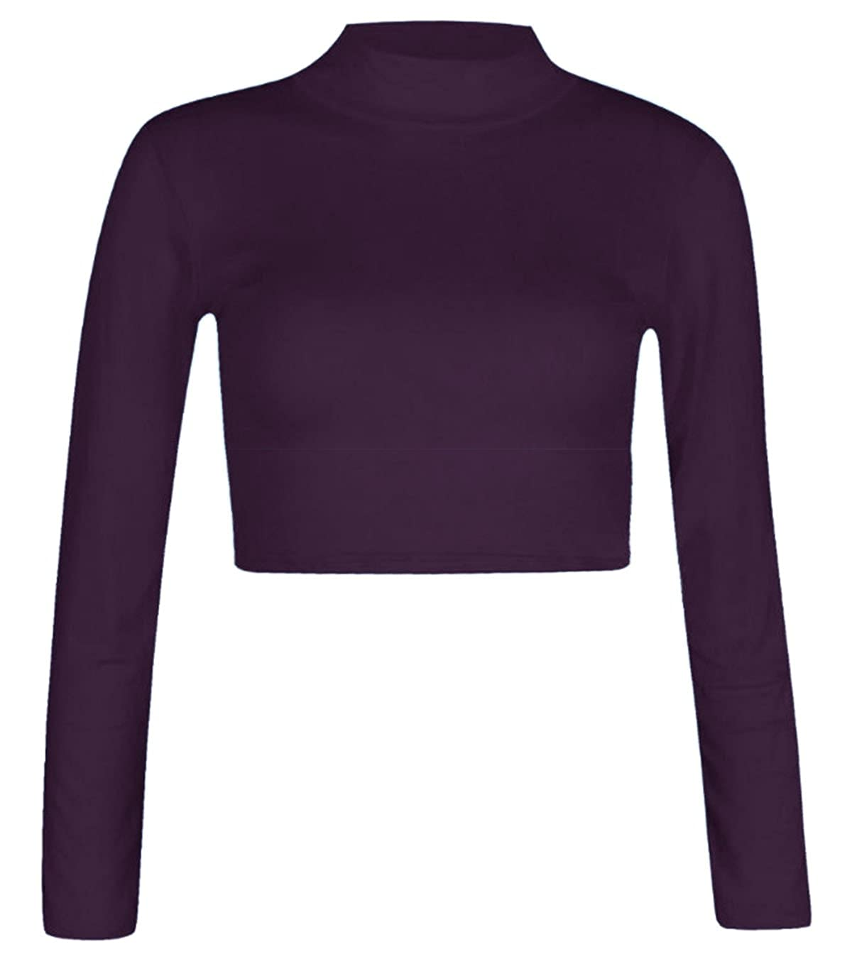 a016bc63bcb FAST TREND CLOTHING New Kids Girls Plain Turtle Polo High Neck Long Sleeve  Crop Top Shirt Age 7-13 Years: Amazon.co.uk: Clothing