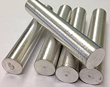 Barra de metal magnesio Mg 18 mm x 100 mm (6 unidades)