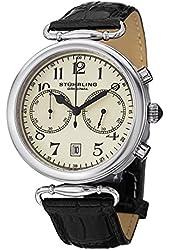 Stuhrling Original Men's Vintage Chronograph Leather Strap Watch