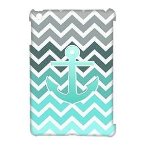 VNCASE Blue Chevron Anchor Phone Case For iPad Mini [Pattern-1] by supermalls