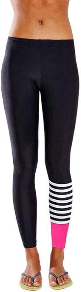 Meigeanfang Womens Yoga Running Pants Ladies Dance Cropped Leggings High Waist Stretch Trousers
