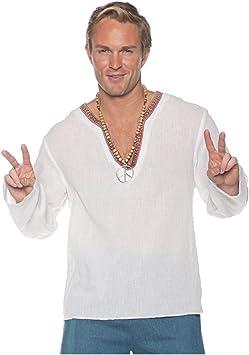 Horror-Shop Camisa De Disfraz Hippie Blanca One Size: Amazon.es ...